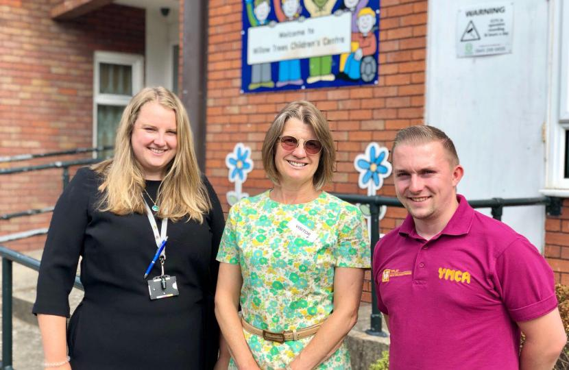 Rachel congratulates Willow Trees on their 'Good' Ofsted rating