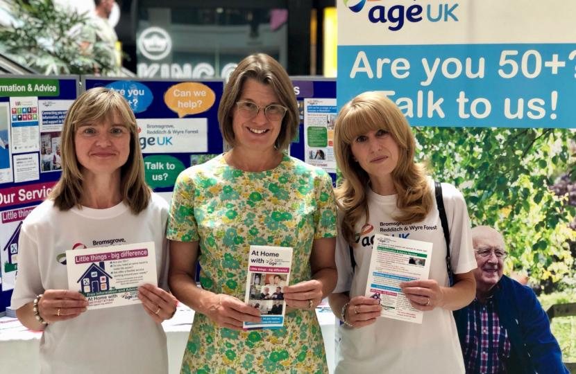 Rachel helps Age UK raise awareness of their 'At Home' service