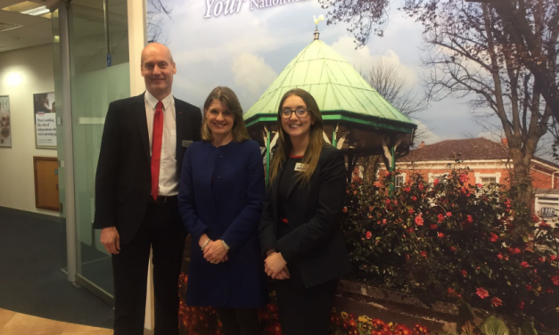 Rachel visits local building society branch and welcomes policy announcements on housing