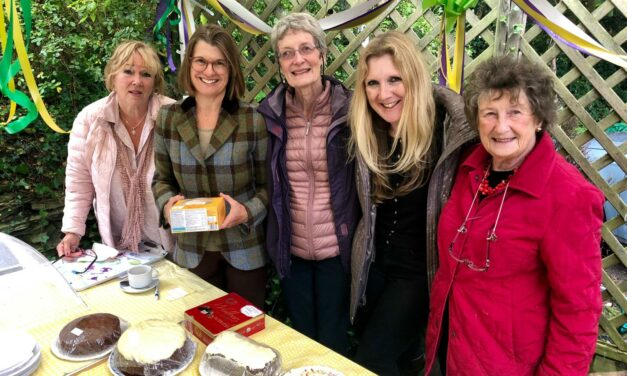 Rachel joins residents to raise funds at the World's Biggest Coffee Morning