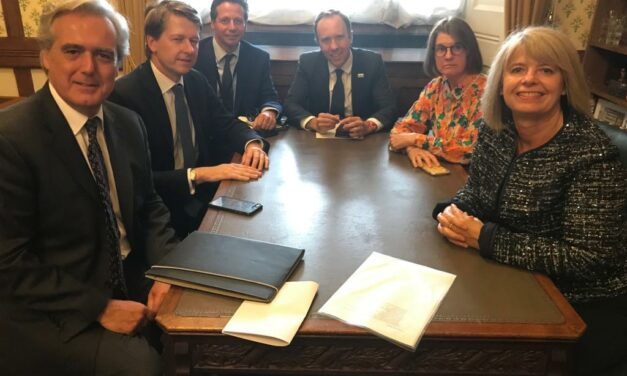 Rachel and Worcestershire MPs meet with Health Secretary
