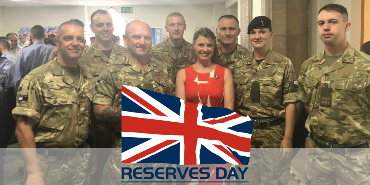 Rachel pays tribute to servicemen and women on Reserves Day