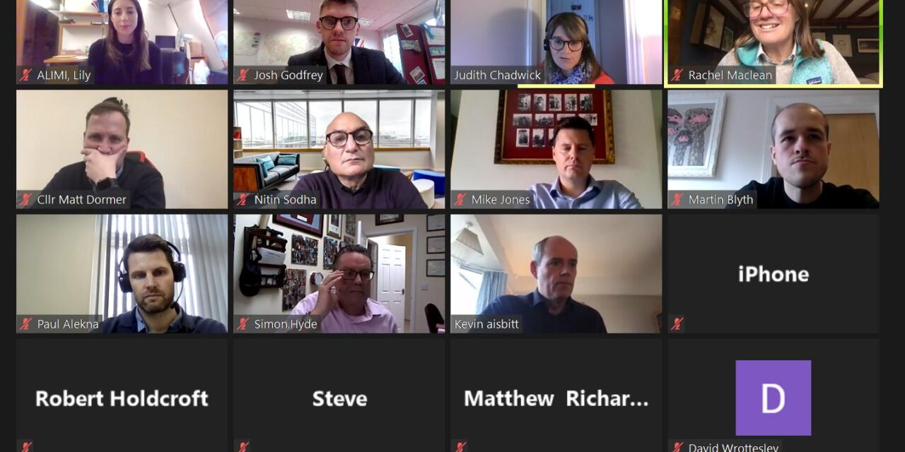 Rachel holds Kickstart Virtual Roundtable with Redditch businesses