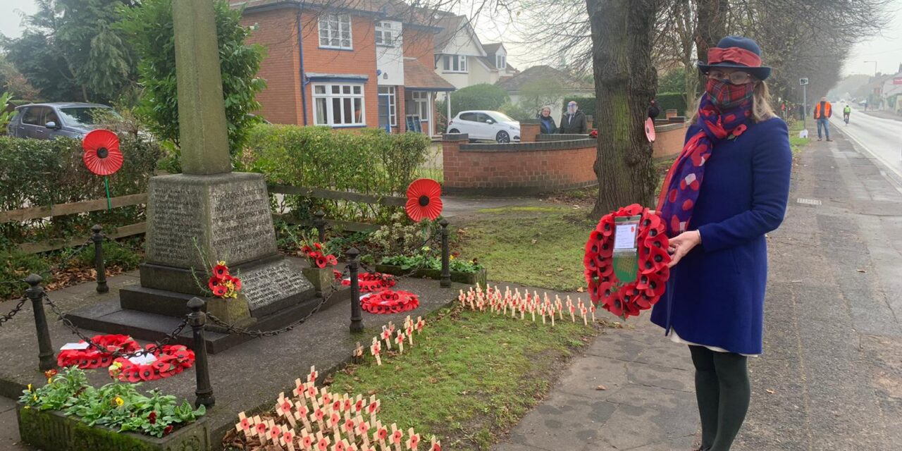 Rachel marks Remembrance Sunday in Astwood Bank