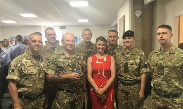 Rachel pays tribute to Redditch's Reservists